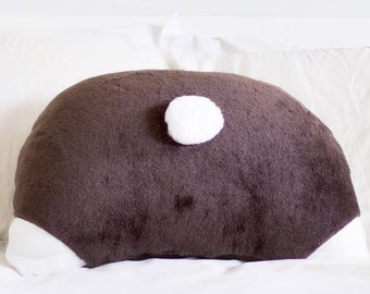 Brown Bunny Booty Pillow - Back Pocket - Bunny Lover - 22 x 16 in