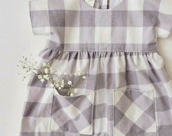 The Jane Pocket Dress, Infant Dress, Baby Cotton Dress, Soft Dress