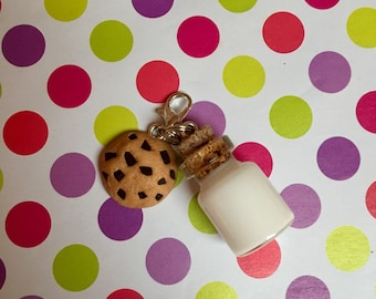 Polymer Clay Milk and Cookie Charm