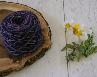 Merino Sock Yarn 100g Gradient Cake - 4ply Purple Stripe - hand dyed