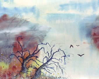 Original painting Abstract tree's