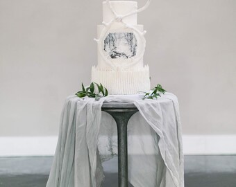 Silk chiffon table runner: handmade, hand dyed | bridal bouquet, invitations, naturally-dyed, wedding favours, photography, styling.