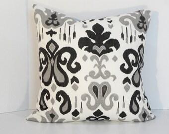 Decorative Pillow Black White Grey 20 x 20 Home Decorating Throw Pillow Sofa Pillows  # READY TO SHIP