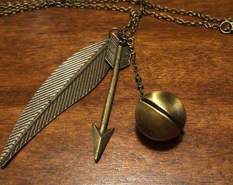Mockingjay themed necklace