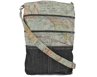 Expedition Crossover, purse, crossbody bag, crossbody purse, map bag, map crossover, map crossbody, map gifts, cartography gifts, travel bag