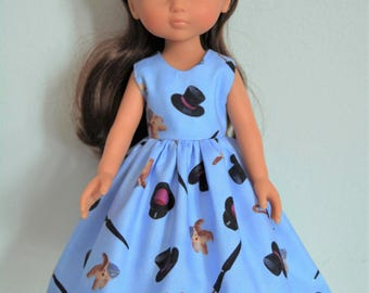 "Handmade Doll Clothes Dress fits 13"" Corolle Les Cheries Dolls Handcraft 3"