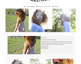 Aquarius Sun - WordPress Theme - WordPress Blog Theme - WordPress Shop Theme - Website Design - Blog Template - WordPress Template