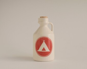 maple syrup bottle / camping