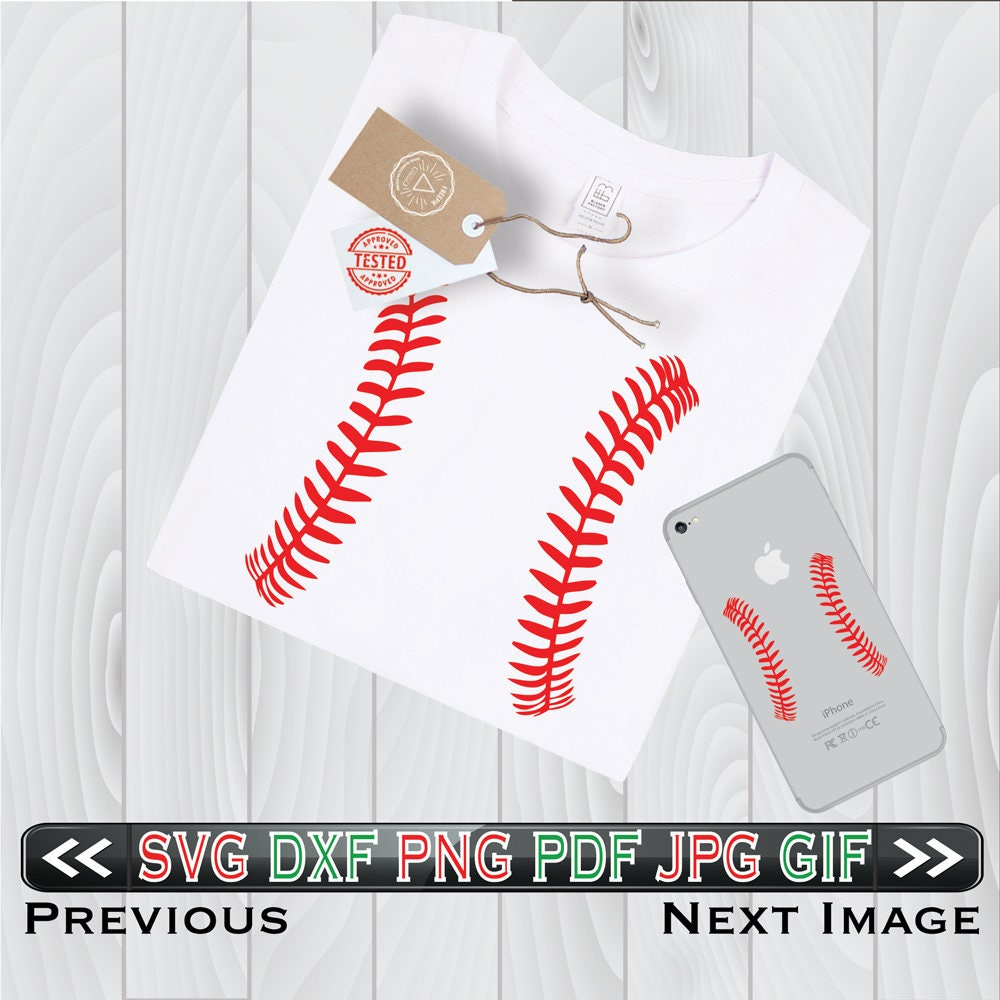 Softball Stitches Svg Files For Cutting Baseball Cricut Laces