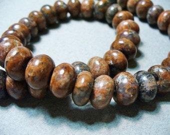 Jasper  Beads Gemstone Rondells 12x8mm
