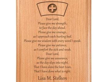 Nurse Prayer Plaque