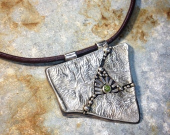 Mosaic Pendant with Peridot