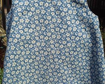 Little Girls Blue Floral Sundress with matching panties