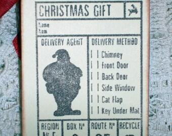 Christmas Gift Tags - Santa Claus - Set of Six  -