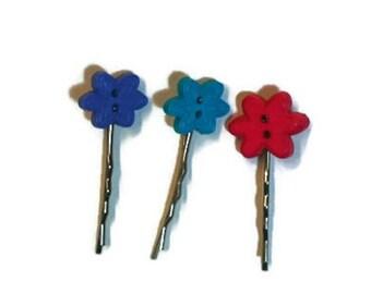 Bobby Pins, Hair Pins, set of three, Colorful