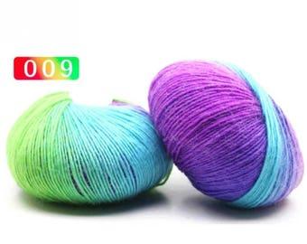 2 - Rainbow Wool Anti-pilling Yarn Skeins - #9