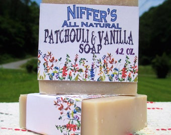 Niffer's All Natural Patchouli & Vanilla Soap 4.2 oz.