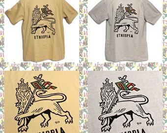 Lion of Judah[Made in ETHIOPIA]T-Shirt  (roots reggae dub rastafari africa ethiopia jamaica haile selassie i)