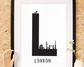 L is for London Art Print