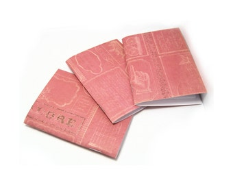 3 Soft Covered Mini Notebooks, 20 Unlined Pages, 3x4 Inches