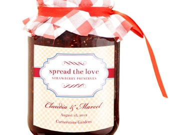 Jam or Preserves Jar Wedding or Party Favor Label Printable