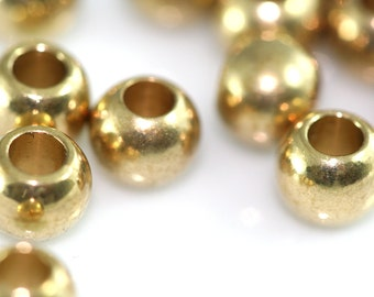 Raw Solid Brass Spacer Bead , 6 mm 9 gauge (2.8 mm hole) Findings bab3 1449