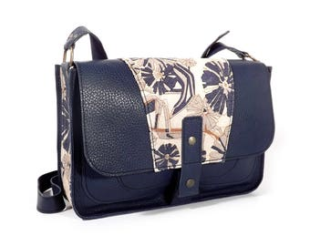 Navy blue leather bag-bag