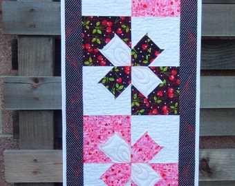 Hearts and Cherries Table Runner