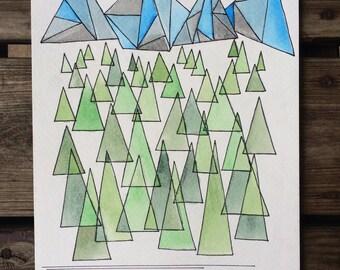 Geometric Adventure Painting