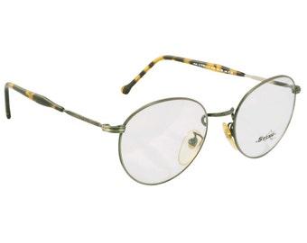 Sting vintage round glasses 80s, made in Italy. Gunmetal circle glasses - tortoise vintage metal frame, prescription glasses