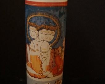 Prayer Altar Church Candle SHIVA & PARVATI Mahadeva, Mahesha, Shankara Hindu God Goddess Holy Family Novena Lumiere Saint Spiritual