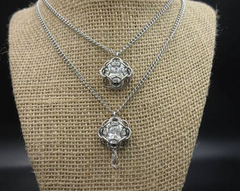 Dual Tiered Swarovski Chainmaille Necklace