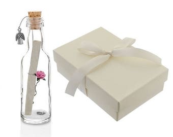 Godmother Gifts - Personalised Message in a Bottle with Gift Box | Thank You