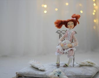 Exclusive handmade doll for interior decoration