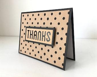Polka Dot Thank You Cards (Set of 3)