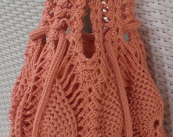 Crochet orange bag,crochet beach bag,crochet bag,crochet summer bag,fashion bag,handmade bag,women bag,shoulder bag,chic bag