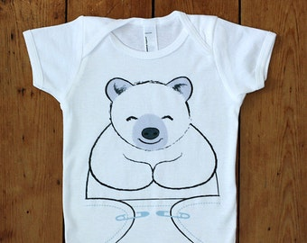 Baby One Piece - Polar Bear Bodysuit - Baby Onsies