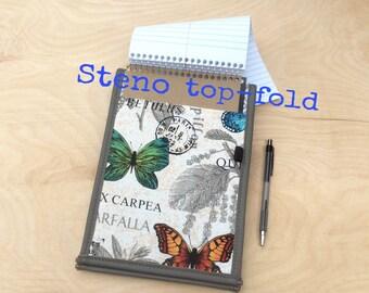 Steno Top-Fold Padfolio Notebook Cover