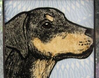Dachshund Stained Glass Dog Suncatcher JRN59