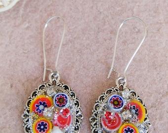 Mosaic Pendant Earrings