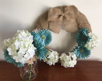 Hydrangea Floral Wreath Mother's Day Birthday Gift Idea