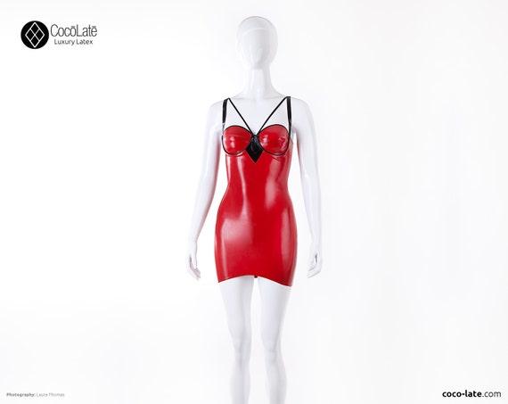Maia Cup Latex Mini Dress