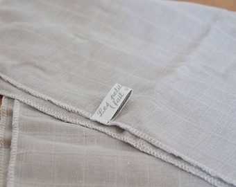 Gray Swaddle / / organic cotton