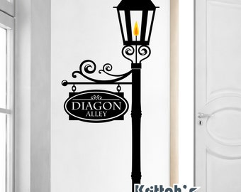 Custom Street Sign On A Gas Lamp Post Vinyl Wall Decal (add A Note With