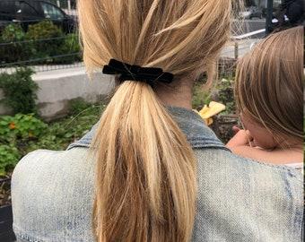 Black Velvet Bow Ponytails - Set of Two