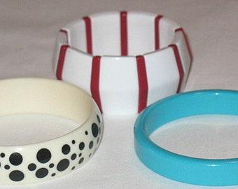 Three Vintage Retro c.1980 Sara Coventry Avon Jewelry Bracelets