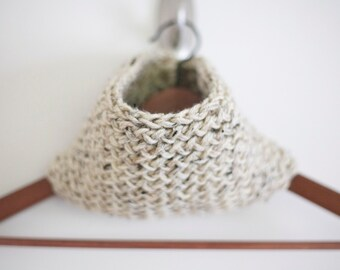 Knit Infinity Scarf in Oatmeal: Made to Order