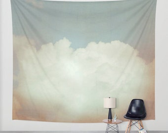 wall tapestry, large size wall art, wall decor, tapestry, dreamy wall hanging, sky tapestry, clouds tapestry, nursery wall art