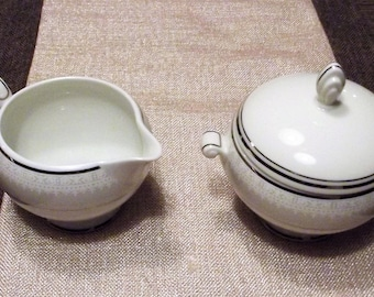 Mikasa *-* MADEIRA LACE *-* Creamer & Sugar Bowl w/Lid, Set of 2 or Individual