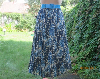 Pleated Skirt / Pleated Skirts / Accordion Skirt / Skirt Vintage / Skirt Size UK14 / 16 / EUR42 / 44 / Floral / Elastic Waist